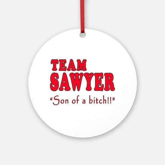 TEAM SAWYER with SOB Ornament (Round)