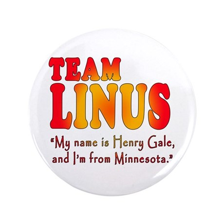 """TEAM LINUS with Ben Linus Quote 3.5"""" Button"""