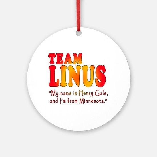 TEAM LINUS with Ben Linus Quote Ornament (Round)