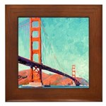 Golden Gate Bridge Framed Tile