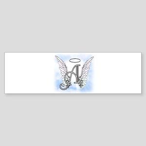 Letter A Monogram Bumper Sticker