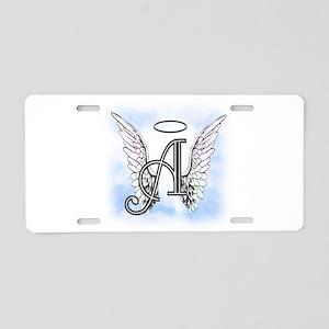 Letter A Monogram Aluminum License Plate