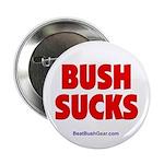 """Bush Sucks"" 2.25"" Button (100)"