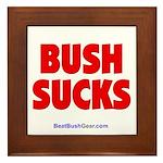 """""""Bush Sucks"""" Framed Tile"""