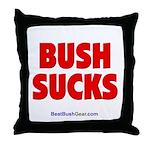 """Bush Sucks"" Throw Pillow"