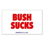 """Bush Sucks"" Rectangle Sticker"