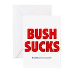 """Bush Sucks"" Greeting Cards (10)"