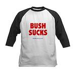 """""""Bush Sucks"""" Kids Baseball Jersey"""
