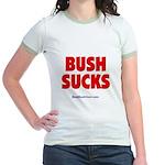 """Bush Sucks"" Jr. Ringer T-Shirt"
