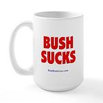 """""""Bush Sucks"""" Large Mug"""