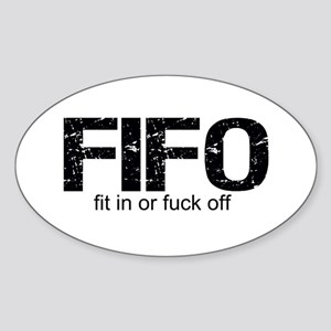 FIFO Sticker (Oval)