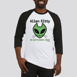 2-AlienKitty-IsWatching Baseball Jersey