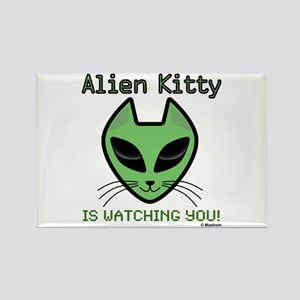 2-AlienKitty-IsWatching Magnets