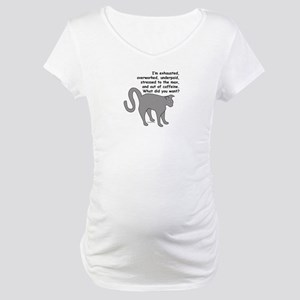 Exhausted & Overworked! Maternity T-Shirt