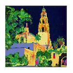 Night In Balboa Park Tile Coaster