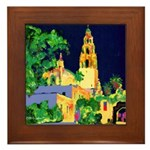 Night In Balboa Park Framed Tile
