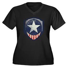 Captain Liberty Vintage Women's Plus Size V-Neck D
