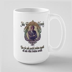 JFK on Peaceful or Violent Re Large Mug
