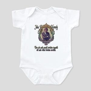 JFK on Peaceful or Violent Re Infant Bodysuit