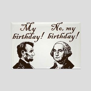 Presidents' Birthday Rectangle Magnet