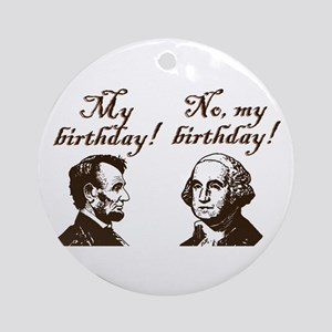 Presidents' Birthday Ornament (Round)