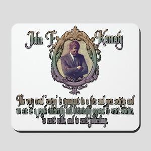 JFK on Secret Societies Mousepad
