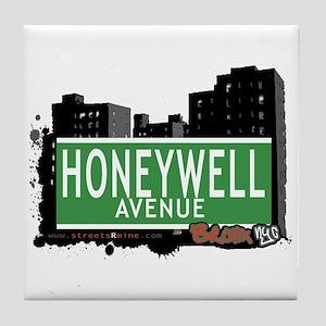 Honeywell Av, Bronx, NYC Tile Coaster