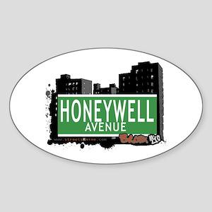 Honeywell Av, Bronx, NYC Sticker (Oval)