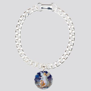 Guardian Angel with Chil Charm Bracelet, One Charm