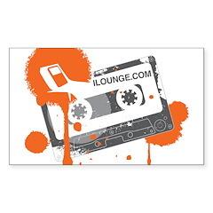 Mix Tape Sticker (Rectangle 10 pk)