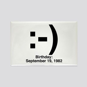 Emoticon Birthday Rectangle Magnet
