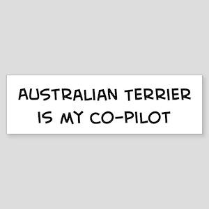 Co-pilot: Australian Terrier Bumper Sticker