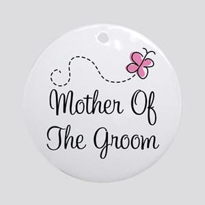 Pretty Mother Of The Groom Ornament (Round)