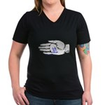 Vote for Sarah Women's V-Neck Dark T-Shirt