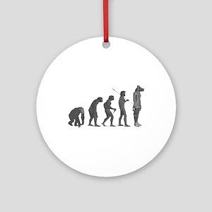 Evolution - Lost statue Ornament (Round)