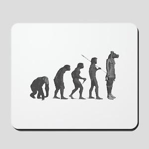 Evolution - Lost statue Mousepad