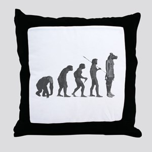 Evolution - Lost statue Throw Pillow