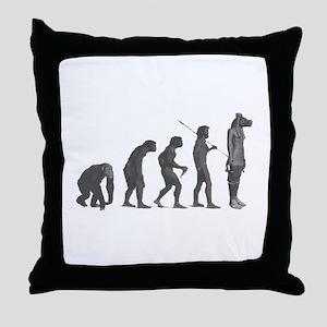 Evolution - Lost statue Throw Pillow