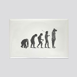 Evolution - Lost statue Rectangle Magnet