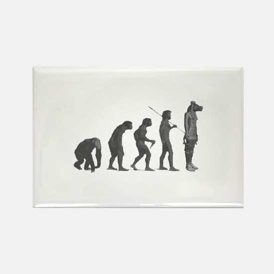Evolution - Lost statue Rectangle Magnet