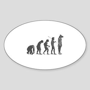 Evolution - Lost statue Sticker (Oval)