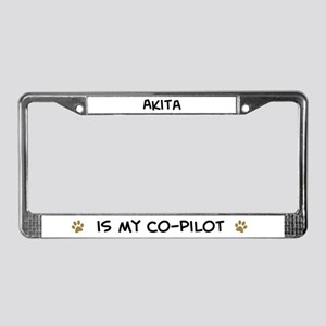 Co-pilot: Akita License Plate Frame