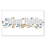 Ham Radio Q Signals Sticker (Rectangle 50 pk)