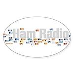 Ham Radio Q Signals Sticker (Oval 50 pk)