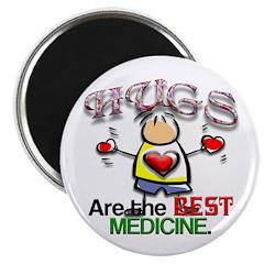 Hugs are the Best Medicine Magnet