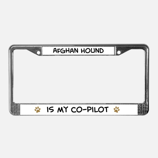 Co-pilot: Afghan Hound License Plate Frame