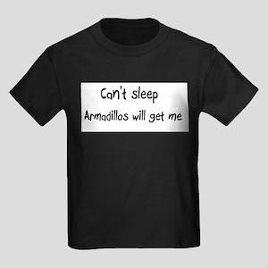 Can't sleep, Armadillos will Kids Dark T-Shirt