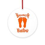 'Beach Babe' Round Keepsake Ornament