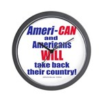 Take Back America Wall Clock