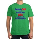 Take Back America Men's Fitted T-Shirt (dark)